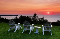 chairs and sunset