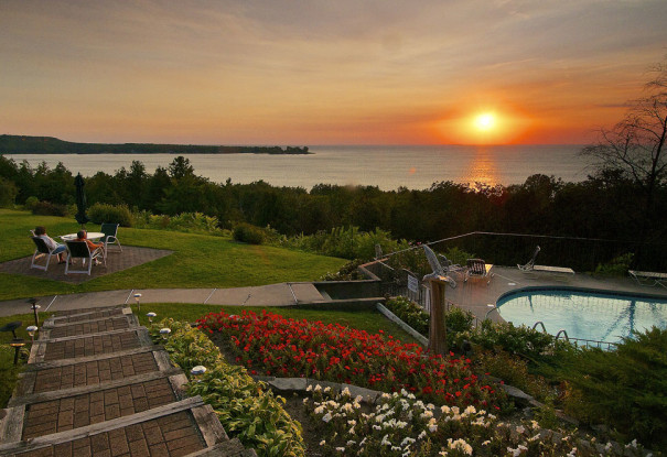 Egg Harbor Lodge Door County Resort with Beautiful Door County Sunsets