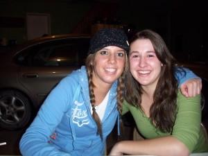 Two friends... Kayla & Cami
