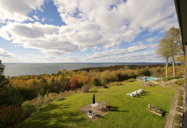 Egg Harbor Lodge Door County Resort overlooking the Bay of Green Bay